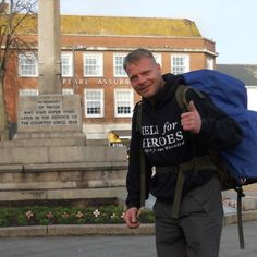 Christian Nock, who is walking around the coast of Great Britain to raise money for Help for Heroes.