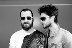 JUSTIN THEROUX and JARED LETO on Crosby Street, New York, May 2011. Photo: Terry Richardson