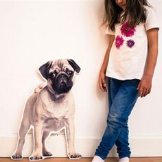 Items similar to Pug dog cutout and decorative accessory made of MDF/wood with pressure - mural Pug dog - by Miss yellow on Etsy Mdf Wood, Decorate Your Room, Wood Paneling, Picture Wall, Decorative Accessories, T Shirts For Women, Pictures, Pug, Image