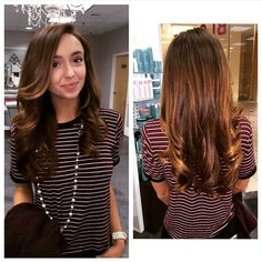 #HelloBeautiful! Obsessed with the shine and body of this gorgeous Astoria with a twist! #brunette #pretty #curls