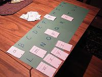 The Stay-at-Home-Mom Survival Guide: Preschool Activities - I like the upper case/lower case matching game