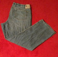 Men's True Nation Relaxed Fit Medium Wash Blue Jeans Size 46x32 #TrueNation #Relaxed