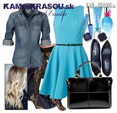 #kamzakrasou #sexi #love #jeans #clothes #coat #shoes #fashion #style #outfit #heels #bags #treasure #blouses #dress #beautiful #pretty #pink #gil #woman #womanbeauty #womanpower Pobláznená modrou - KAMzaKRÁSOU.sk