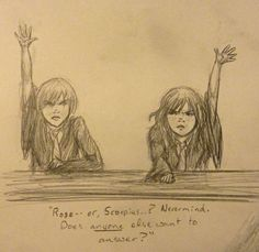 scorpius and rose Fanart Harry Potter, Harry Potter Puns, Harry Potter Universal, Rose And Scorpius, Scorpius Malfoy, Draco And Hermione, Draco Malfoy, Harry Potter Next Generation, Cursed Child