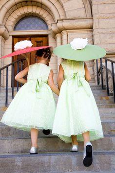25d06f43ab3 Boise Train Depot Wedding - Cranberry Apple and Orange. Green Flower Girl  DressesMint ...