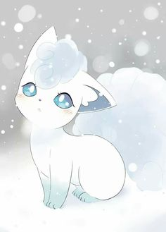 Alolan Vulpix is SO ADORABLE, i love ice types and think they des. - Alolan Vulpix is SO ADORABLE, i love ice types and think they deserve more of a spotlight as they are often get put to one side for other types of Pokemon… Pokemon Fan Art, Sun Pokemon, Pokemon Tattoo, Baby Pokemon, Cute Animal Drawings, Kawaii Drawings, Cute Drawings, Pokémon Kawaii, Anime Kawaii