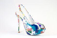 LORIBLU Italian Designer Fashion Platform Shoes SKU: 3EP12004 DESIGNER: LORIBLU COLOR: Print MATERIAL: Patent Leather SHOE TYPE: Platform