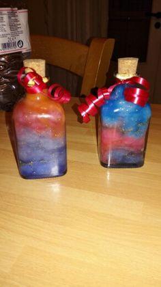 Universe in a bottle *tramonto e zucchero filato* By Marianna