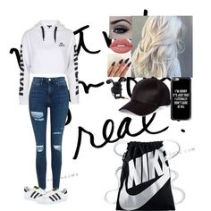 Untitled #307 by chansoo on Polyvore featuring polyvore, fashion, style, Topshop, adidas, NIKE, River Island, Casetify, Lime Crime and clothing