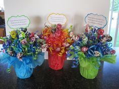 Sucker bouquets!  Great back to school idea for teachers.