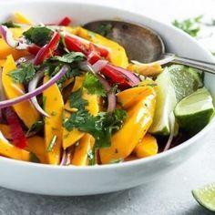 Mango Recipes, Salad Recipes, Summer Recipes, Dessert Recipes, Dinner Recipes, Mango Dressing, Salad Dressing, Cooking Recipes, Healthy Recipes