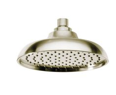 """7.4"""" ROUND FULL BODY RAINSHOWER SYSTEM     LUXURY BRUSHED NICKEL FINISH     STANDARD 1/2"""" CONNECTON FOR EASY INSTALLATION     CALCIUM RESISTANT NOZZLE     http://www.biobidet.com/"""
