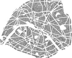 Armelle Caron, Paris (from tout bien range series), Paris-©-Armelle-Caron Paris Map, Paris City, Berlin Zoo, Plan Paris, City Grid, Blog Art, Art Carte, Landscape And Urbanism, Artist Project