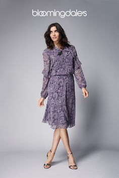 Printed dresses, refined knits and tailored trousers elevate the latest arrivals from Lauren Ralph Lauren. Trendy Outfits, Fall Outfits, Work Outfits, Ralph Lauren Womens Clothing, She's A Lady, Stitch Fix Stylist, Blouse Dress, Fall Wardrobe, Pretty Dresses