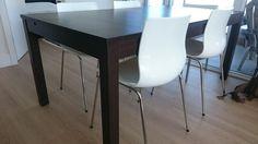 "IKEA BJURSTA Extendable table, brown-black, 69/86/102x37"""