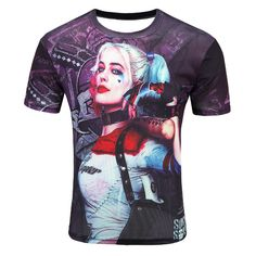 a938392c5 Fashion Men's Short Sleeve Polyester 3D O-Neck Suicide Squad T-Shirt Frog  Lightning 3D Water Printed T Shirt