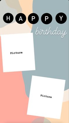 Happy Birthday Template, Happy Birthday Frame, Happy Birthday Posters, Happy Birthday Wallpaper, Birthday Posts, Diy Birthday, Hapoy Birthday, Birthday Collage, Happy Birthday Pictures
