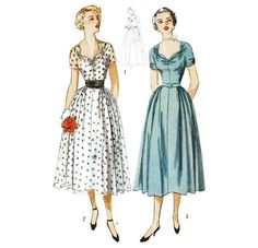 1950s Cocktail or Evening Dress with Sweetheart by willynillyart