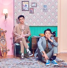 "Chanyeol x Sehun // We Young That's the "" I'm taller why do I have to sit in the ground?"" And sehun be like ""try me"" Kpop Exo, Exo K, Exo Ot12, Kaisoo, Chanbaek, Park Chanyeol, K Pop, Kdrama, Spirit Fanfics"