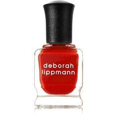 Deborah Lippmann Nail Polish - Respect (£16) ❤ liked on Polyvore featuring beauty products, nail care, nail polish, red, deborah lippmann nail color, formaldehyde free nail polish, deborah lippmann nail lacquer and deborah lippmann