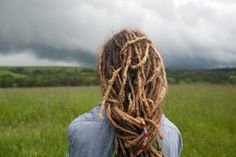 dreadlocks bringing in a storm on the horizon. Using that dread-power!