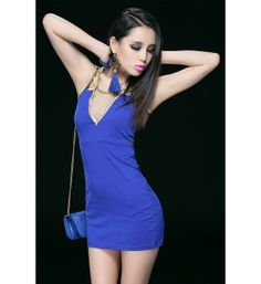 $7.88 NEW! New Styles Blue Polyester Sheath Mini Sexy Style Day To Night Dress