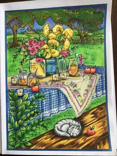 Coloring Tips, Adult Coloring Pages, Creative Haven Coloring Books, Spring Scene, Relaxing Art, Colored Pencil Techniques, Autumn Scenes, Color Pencil Art, Mandalay