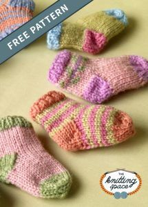 Free Baby Patterns, Baby Booties Knitting Pattern, Knit Baby Booties, Knitting Socks, Knitting Patterns Free, Free Knitting, Knitted Baby Socks, Baby Knits, Knitted Socks Free Pattern
