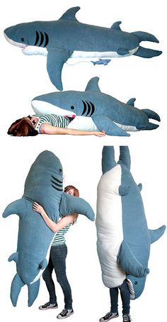 maybe this sleeping bag would help with my fear of sharks.....I don't think I could even manage to buy it.