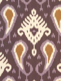 Batavia Ikat Fabric, color: amethyst; Dwell Studio for Robert Allen- Global Modern Luxe #fabric