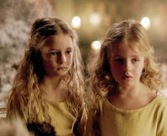 Then, there are Rowena, (right) who is her mother in miniature, and Aurora, who has golden-brown hair and dark eyes