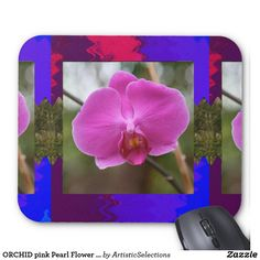 ORCHID pink Pearl Flower Love Romance Expression Mouse Pad