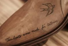 'These boots are made for tattooing' On my list of things to do, is turning my attentions to inking shoes There seems to be a small micro trend, within luxury leather labels to custom i…