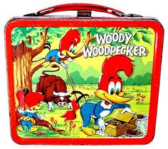 Cartoon characters such as Woody Woodpecker were mainstays of vintage lunch boxes.  This was one of the first boxes I found for my collection.