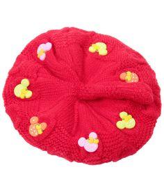 Bizarro Appealing Pink Woollen Cap For Kids