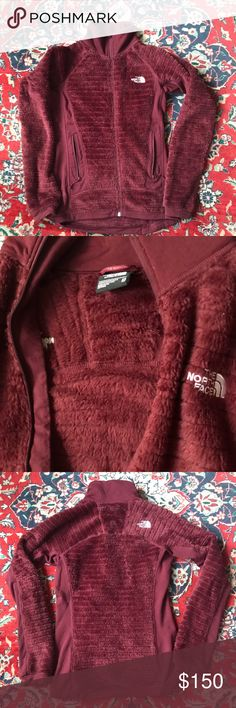 🆕north face fleece jacket in bordeaux Teppchnical model designed for being active in cold environments. Made with a cozy and warm hi-loft material and has a unique baffled construction that allows for maximum ventilation. pIt will keep you warm and prevent you from getting sweaty at the same time. Stretch fleece panels on the side torso and arms, which allow for greater ease of movement and less constriction under another layer. The North Face Jackets & Coats