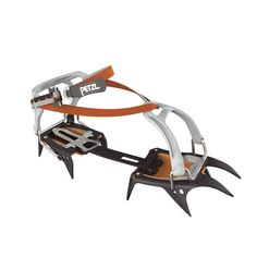 Crampons 10 points of glacier hiking and ski touring. crampons, lightweight and compact, for use in glacier hiking and ski touring.