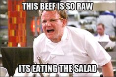 Best of Gordon Ramsay - Angry Chef Meme - Comics And Memes Funny Test, New Funny Memes, Dog Quotes Funny, Funny Stuff, Gordan Ramsey Meme, Gordon Ramsey, Chef Meme, Gordon Ramsay Funny, Lamb Sauce