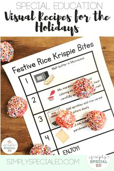 Visual Recipes for the Holidays - Simply Special Ed