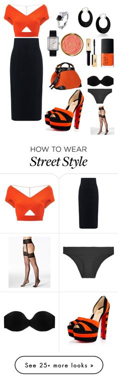 """""""orange the new black"""" by twil24 on Polyvore featuring 10 Crosby Derek Lam, Roland Mouret, Berkshire, Cosabella, Heidi Klein, Caroline De Marchi, Bling Jewelry, Chanel, NARS Cosmetics and Milani"""