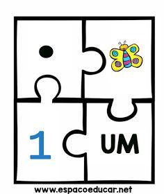 JOGO EDUCATIVO QUEBRA-CABEÇAS DOS NUMERAIS LINDO! - ESPAÇO EDUCAR Education, Signs, Math, Cards, Literacy Activities, Numbers For Kids, Maths Games For Kids, Dyslexia, Autism