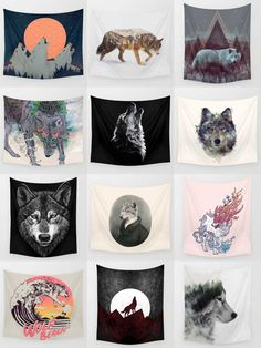 Society6 Wolf Tapestries - Society6 is home to hundreds of thousands of artists from around the globe, uploading and selling their original works as 30+ premium consumer goods from Art Prints to Throw Blankets. They create, we produce and fulfill, and every purchase pays an artist.