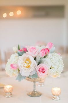 Pink peonies and hydrangeas: http://www.stylemepretty.com/2017/01/13/proof-that-blush-peonies-are-always-a-good-idea/ Photography: Amy Rizzuto - http://amyrizzutophotography.com/ and Kristy Timms - http://www.kristytimmsphotography.com/