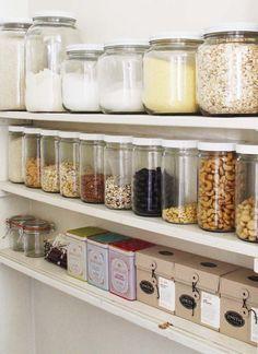 Beautiful small corner of a pantry