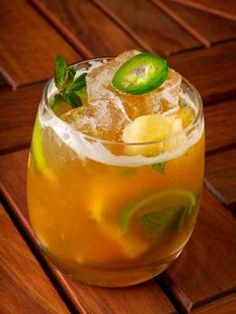 2 oz. cachaça  2 tbsp. brown sugar  5 mint leaves  3 pineapples, sliced  2 jalapeños, round sliced with core taken out  2 lime wedges  Muddle lime, mint, pineapple, jalapeño, and brown sugar in a cocktail shaker. Add ice and cachaça. Shake vigorously and pour into a glass.  Source: Nic Oliveira, Spice Market Mixologist Courtesy Image -Cosmopolitan.com