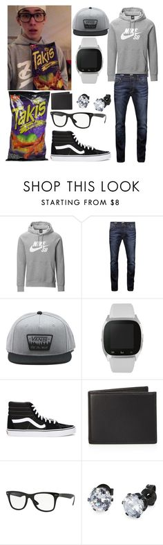 """Carter reynolds"" by sheafleming195 ❤ liked on Polyvore featuring NIKE, Jack & Jones, Vans, iTouch, The Men's Store, Ray-Ban, West Coast Jewelry, men's fashion and menswear"