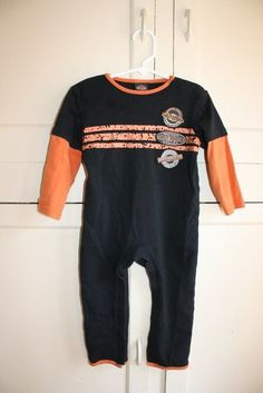 7b5d6b2e7 Baby boy size 24 month HARLEY DAVIDSON footless onesie #HarleyDavidson  #Everyday