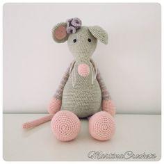 Anabelle ratón de ganchillo por MartinaCrochets en Etsy