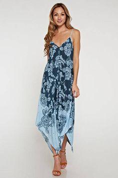 Semi-Formal Handkerchief Hem Dress