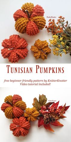 Crochet Fall Decor, Autumn Crochet, Easy Crochet, Free Crochet, Thanksgiving Crochet, Crochet Food, Holiday Crochet, Tunisian Crochet Patterns, Crocheting Patterns
